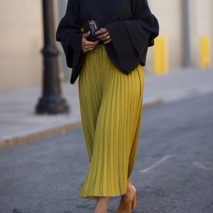 Zara Pleated Midi Skirt | Medium